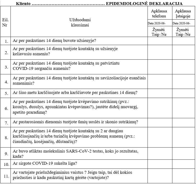 Porų psichologas Mykolas Truncė Epidemiologinė deklaracija besikonsultuojantiems karantino metu